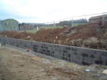 The retaining wall first stage